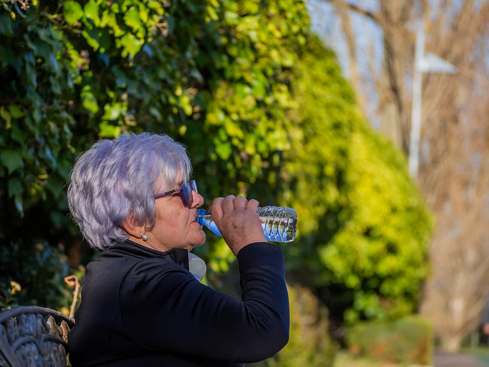 Woman Drinking Water Staying Hydrated